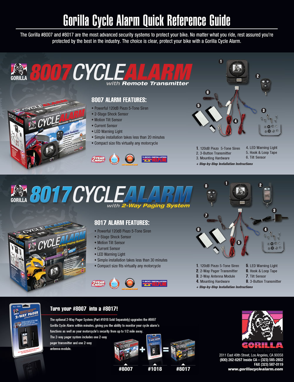 Gorilla Cycle Alarms - Quality Motorcycle Alarms